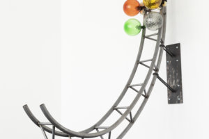 Funtomia, steel, glas, cord, skatewheels, 2018I