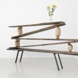 SchniSchnaSchnappi, american nut tree, brass, metal, 2018