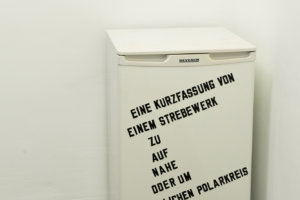 Lawrence Weiner*_An abridgement of an abutment to on near or about the Arctic Circle_Husslehof 2016