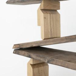 SchniSchnaSchnappi, american nut tree, brass, metal, 2018III
