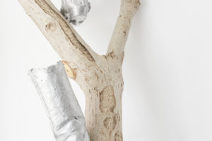 Walk The Line, german nut tree, aluminium boots, 2016III