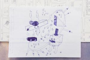 Ira Shalit Untitled Digital drawing and biro  A4 paper  2017